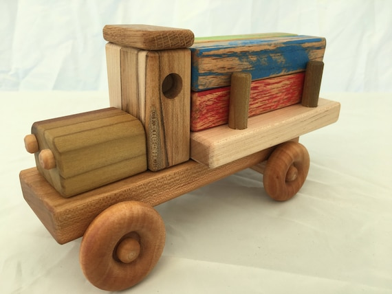 Lumber Truck with colored planks
