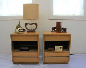 Mid Century Modern Sligh end tables, nightstands, table set (2)