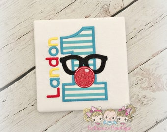 Clown Birthday Shirt- Clown Disguise- Glasses and Red Nose- Custom Circus or Carnival shirt