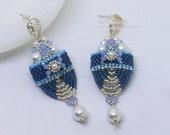 PDF Tutorial - Chandra Carrier Beads Earrings Beading Instruction Beadweaving Pattern Tutorial