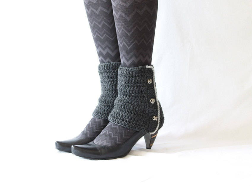 crochet spats pattern, small ankle warmer, winter leg warmers pdf ...