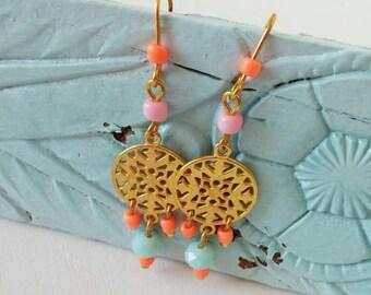 Pretty boho dingly dangly earrings