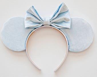 Baby Blue Mouse Ears / Pastel Blue Ears / Velvet Disney Ears / Minnie Mouse Ears / Mickey Mouse Ears / Disneyland Mouse Ears / Pastel Color