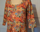 Bright Orange Floral Kaylee Frye Cosplay Top - Ready to Ship