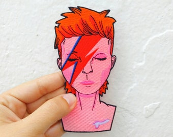 David Bowie as Ziggy Stardust Iron on patch
