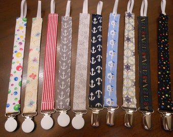 Pacifier Holder, Binky Clip, Pacifier Clip, Paci Clip.Baby Pacifier Clip, Set of Two