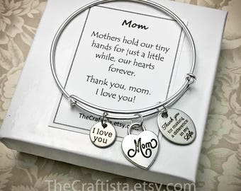 MOM, Mother Bangle, Mom Gifts, Mom Bangle, Mother Jewelry, Gifts for Mom, Mom Adjustable Bangle, Mom Charm, Mother's Day Gift, Mother's Gift