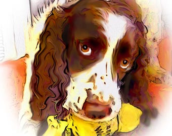 English Springer Spaniel Comic Style Note Cards