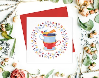 Greeting card or greeting cards set - Floral Stationery, Get Well Cards, For Her, Friend Cards, Thank You Cards, For Mom, Birthday Cards