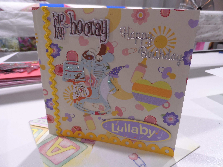 Birthday Card Baby Handmade Newborn Card Made in Australia