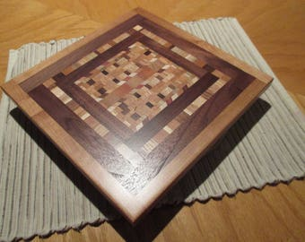 handcrafted solid wood lazy susan