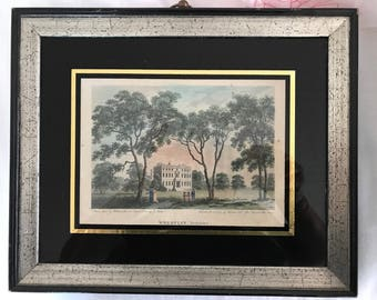 """Yorkshire Wheatley print from 1793 original.  Measures 11-1/4"""" x 9-1/2"""" in frame.  Print measures 5"""" x 6-3/4""""."""