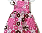 Donut Apron, Children Apron, Toddler Apron, Girl Apron, Baking Apron, Cooking Apron, Kids Apron, Little Girls Apron, Retro Style Apron