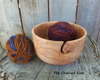 Wooden Yarn Bowl, Maple
