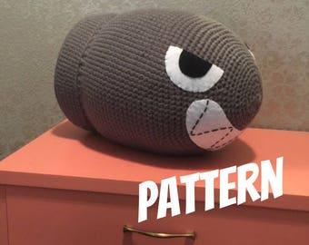 Bullet Bill JUMBO size Crochet doll PATTERN Nintendo Yoshi's Woolly World Mario Amigurumi