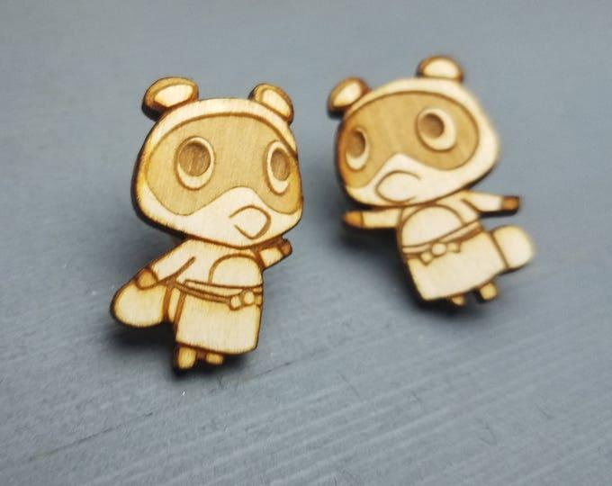 Animal Crossing Timmy and Tommy Nook Earrings | Laser Cut Jewelry | Wood Accessories | Wood Earrings | Hypoallergenic Earrings