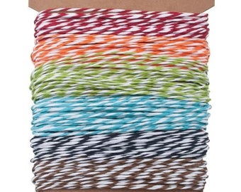 ON SALE Tim Holtz Idea-ology Striped Paper  Baker's Twine Sampler, 5 Yards ea of 6 Colors