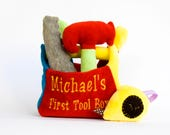 Personalized Toy for Boy, Custom Plush Toy, Baby Boy Gift, Gift for 1 Year Old, My First Toolbox, Baby Tools set