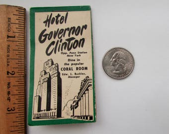 Hotel Governor Clinton, Opposite Penn Station, New York NY, Book of Postage Stickers NYC History 1943-63