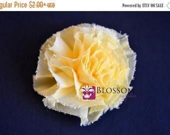 ON SALE The Debra Collection - Yellow Frayed Petti Puff Flowers - Shabby Chiffon - DIY Flower Headband - Blossom Supplies Wholesale Roses Ca
