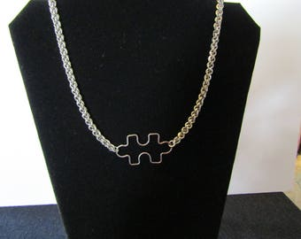 JPL necklace, stainless steel necklace, chainmaille necklace