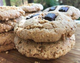 Vegan  Almond Dark  Chocolate Chunks 10 pieces! Spelt Flour, Pistachio and Almond Flours!