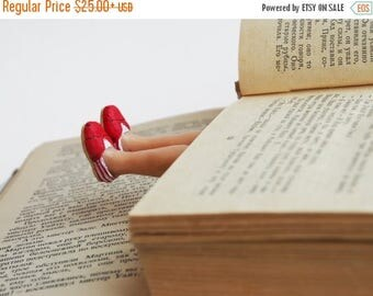 BACK to SCHOOL 20% off // TOMS shoes bookmark // Legs in red shoes unusual gift for teenager // Back to school gift for student, teacher //