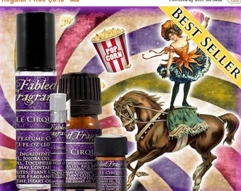 SALE LE CIRQUE - Perfume Oil and Vegan Solid Perfume with Cotton Candy, Candy Apple, Caramel, Buttered Popcorn, Vanilla - Ships Out in 5-7 D