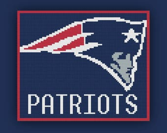 New England Patriots Afghan, C2C Graph, New England Patriots C2C Graph