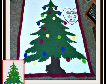 Christmas Tree TSS Graph, Word Chart, Christmas Tree Afghan