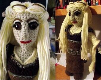 Eowyn, a handmade crochet doll