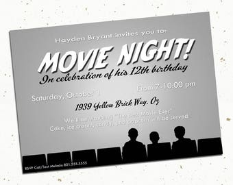 Photo Movie Invitation Printed With Envelopes -- 5x7""