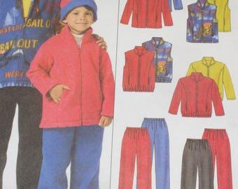 Boys McCall's Pattern 4964 Jacket -Vest -Pants- Hat Size Med-Large XLarge