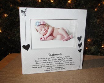 Godparent gifts etsy personalized godparent gift godparent sign gift for godparents picture frame baptism christening gift godparent poem negle Gallery