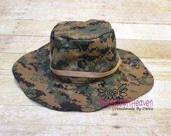 Boonie cap, Infant Boonie cap, Marines hat, Military sun cap, Military bucket hat, Baby marines hat, Marine bucket hat, Boonie