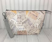 Wedge Bag with Handle - Circulation Cards