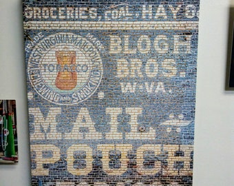 Gallery Wrap Canvas 18x24 - Jonesborough Tennessee WV Mail Pouch Tobacco Sign