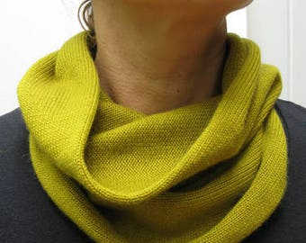 50/50% Cashmere Silk Snood (ring scarf)
