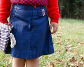Navy Buster Brown Skirt, 4T, back to school, fall