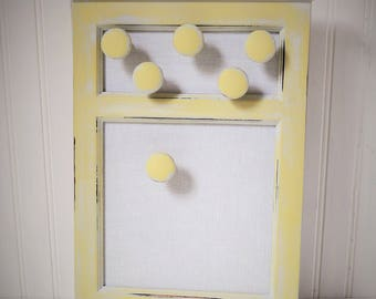Magnetic Board Hand Painted Soft Lime Green Six Magnets