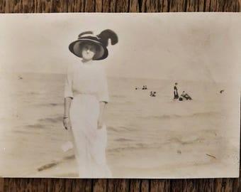 Original Antique Photograph | Beauty by the Sea