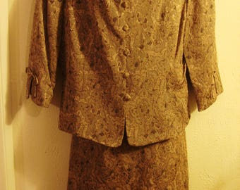 Vintage Gold Tapestry Suit Dress
