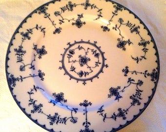 Vintage Blue on White Dinner Plate (Amsterdam) Japan Underglaze Maker Mark on Bottom