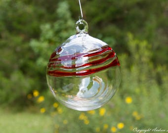 OOAK Hand blown Borosilicate Glass Christmas ornament O112