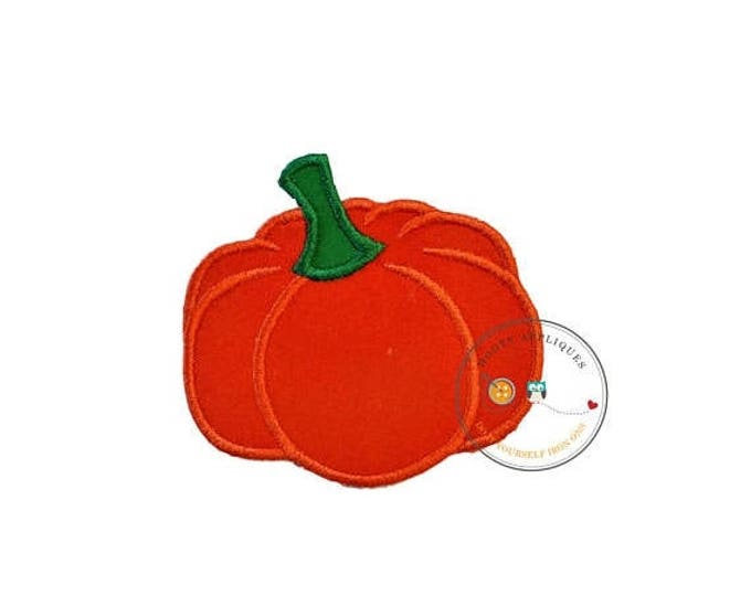 ON SALE NOW Small pumpkin  iron embroidered fabric applique patch embellishment- ready to ship