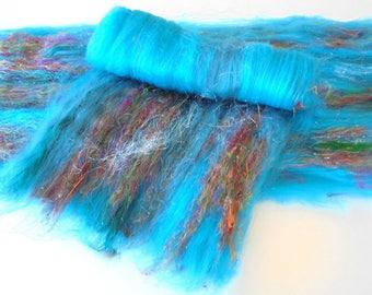 DAYDREAM 2.0 - Art Batts, Spinning Batt, Felting Batt, Merino Wool, Bamboo, Pulled Silk, Silky Batt, Smooth Batt, Hat Knitting Pattern