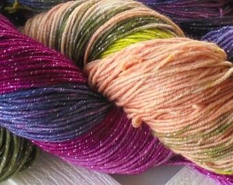 Handpainted Merino Yarn, SERENDIPITY, Indie-Dyed Yarn, Handdyed Yarn, Soft Merino Yarn, Superwash Yarn, Sparkly Merino Yarn, Sparkly Yarn