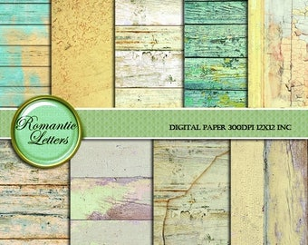 SALE 60% Easter Wood Digital Paper pack Easter Wood Scrapbook background paper Easter newborn digital photo backdrop Shabby Chic printable p