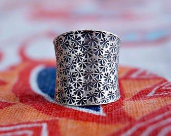 Lamai 925 Silver Ring Statement Ring Boho Jewelry