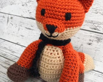 Meadow the Fox, Crochet Fox Stuffed Animal, Red Fox Amigurumi, Plush Animal,  Ready to Ship